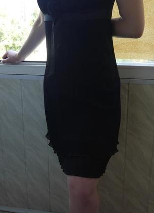 Платье черное короткое элегантное праздничное