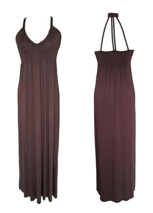 Длинное вискозное платье la redoute, m
