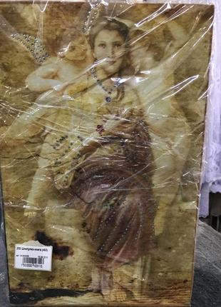 14/255 шкатулка книга классический рисунок