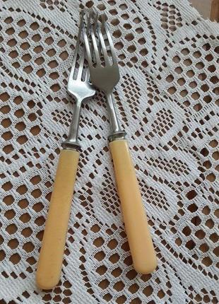 Вилки с костяными ручками