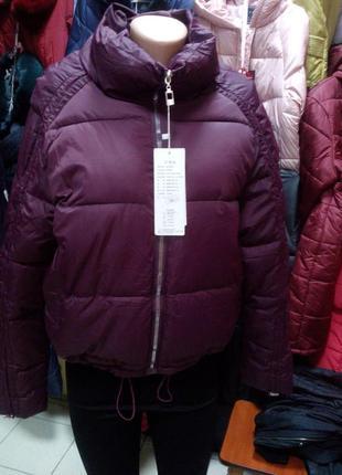 Женская зимняя курточка оверсайз