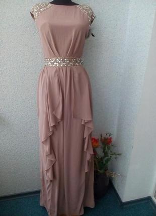 Шикарное шифоновое платье в пол tfnc london