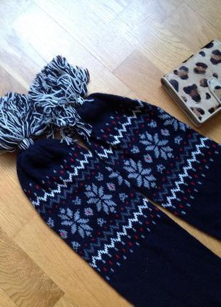 Теплый новогодний шарф. скидка10%на2вещи!)
