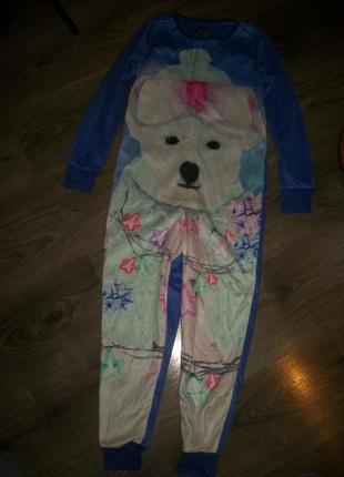 Мякусенький слип,пижама на 7-8 лет от marks&spencer маркс и спенсер