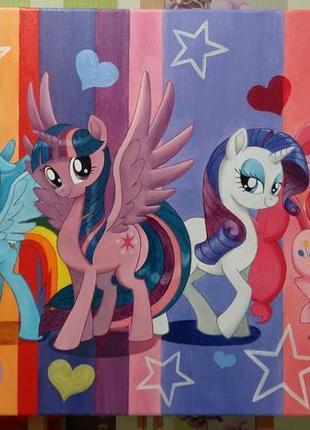 """Продам яркую картину в детскую """" my little pony"""""""