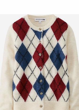 Актуальной расцветки теплый кардиган свитер кофта юникло