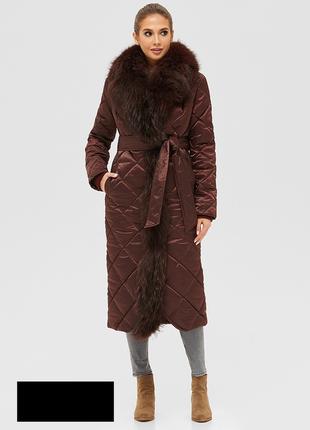 Зимнее женское стеганое пальто размеры: 42-50