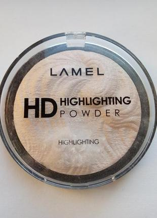 Хайлайтер -пудра lamel professional hd highlighting powde тон 101.