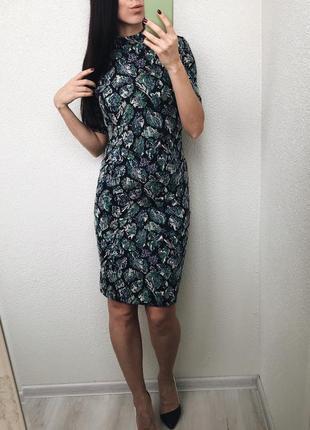 Платье с блестящей нитью m&s