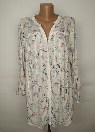 Блуза натуральная красивая на лето большого размера marks&spencer uk 20/48/3xl