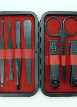 Маникюрный набор черных инструментов