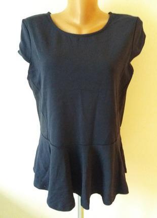 Блуза с баской синяя springfield
