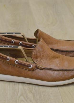 Clarks мужские туфли мокасины кожа оригинал англия