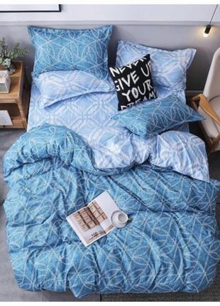 Постельное белье , постельное белье голубое , постельное бязь
