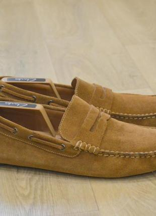 Marks spencer мужские замшевые туфли мокасины оригинал англия