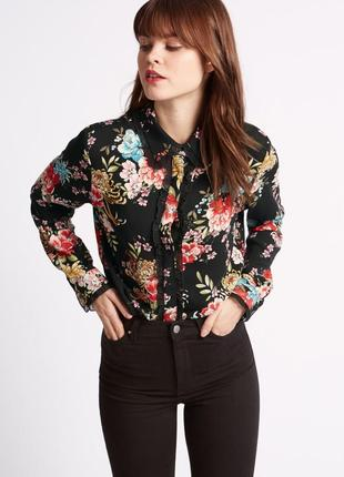 M&s limited великолепная цветочная блуза рубашка свободного кроя, р.10-38, s-ка