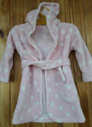 Махровый халат девочке на 1-1,5 года