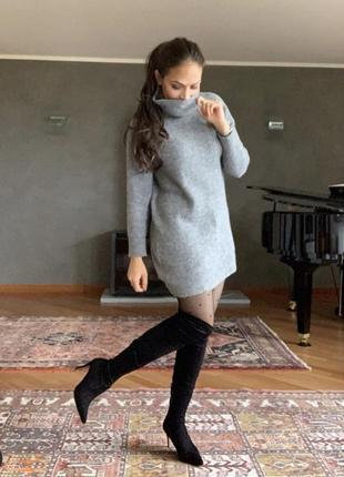 Платье свитер теплое mango