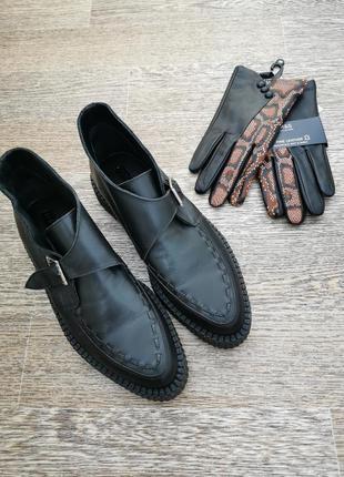 Стильные добротные кожаные ботинки, криперы topshop