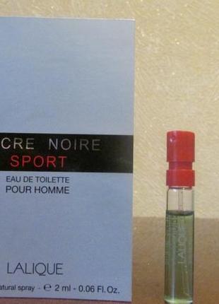 Туалетная вода encre noire sport lalique 2 мл.