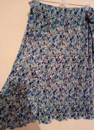 Летняя юбка гофре, размер 24