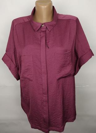 Блуза рубашка новая шикарная стильная f&f uk 16/44/xl