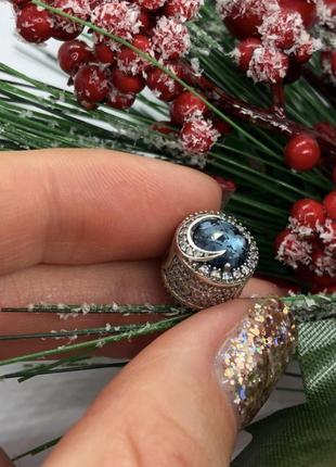 Шарм кристалл « луна и звезды» серебро s925
