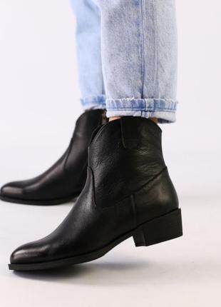 Ботинки демисезонные, кожаные ботинки, ботинки