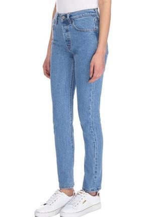 Levis 501 skinny, высокая талия джинсы скини, 28 m