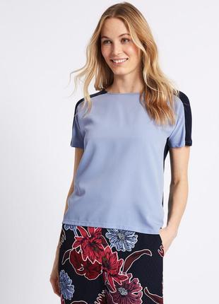 Marks&spencer замечательная футболка с контрастной спинкой, р.8-36, s-ка