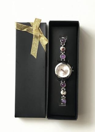 Наручные часы с камнями аметист synthia watch amethyst