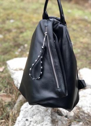 Женский кожаный рюкзак. сумка кожаная. кожаный рюкзак.