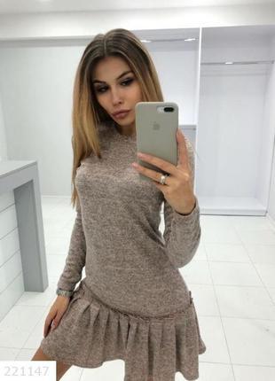 Платье для модниц. цвет пудра.