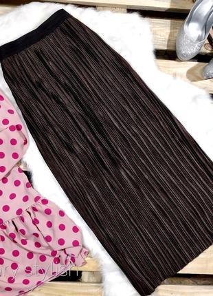 Модная юбка плиссе плотная