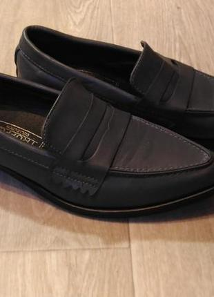 Туфли лоферы truffle collection тёмно-серого цвета, р.39