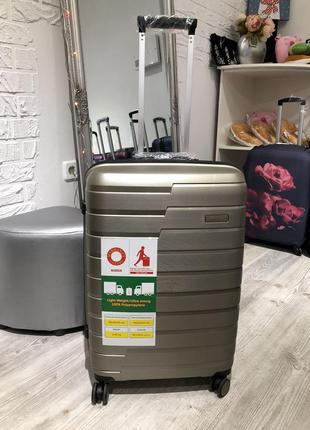 Качественный французский чемодан showball из полипропилена, якісна валіза