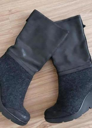 Кожаные сапоги,чоботи от bronx