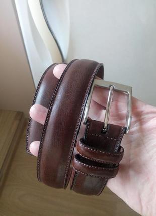 Кожаный брючный мужской ремень от бренда perry ellis (portfolio)