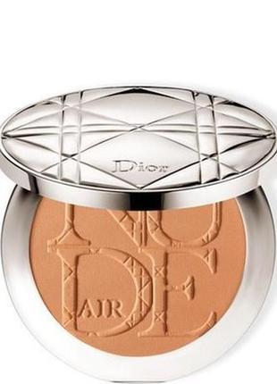 Бронзирующая солнечная пудра dior diorskin nude air tan powder тестер