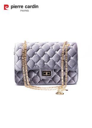 Женская сумка из бархата/оксамит/велюр pierre cardin