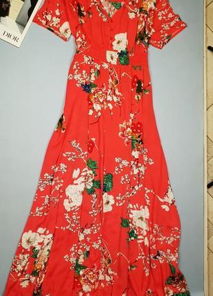 Длинное платье в цветочный принт shein p.2xl