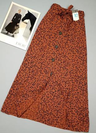 Новая юбка миди в леопардовый принт primark p.10