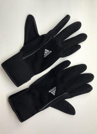 Чёрные перчатки adidas