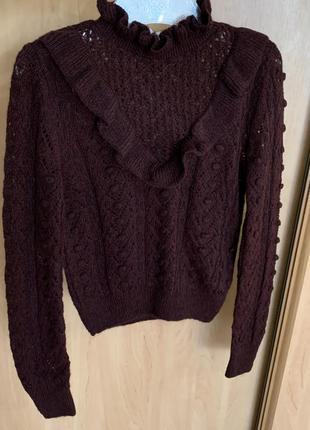 Новый бордовый свитер zara