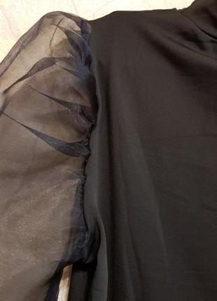 Свитер блузка с рукавом из органзы3 фото