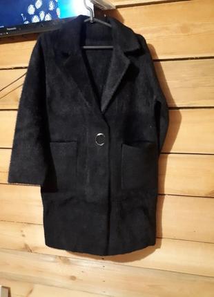 Шикарное пальто шубка кардиган оверсайз альпака