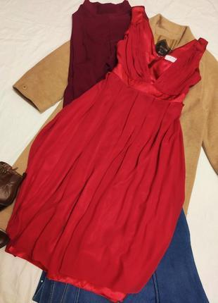 Платье вечернее коктейльное длинное миди шифоновое с вставками на подкладке twiggy