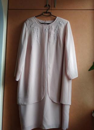 Нарядное  платье-двойка для полных женщин от фирмы virgo    (185)
