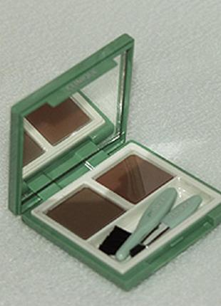 Тени для бровей clinique brow sculpting duo цвет 02 auburn to brown