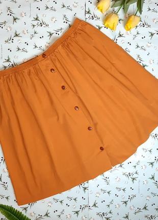 🌿1+1=3 фирменная юбка миди на резинке с пуговицами liberty, размер 56 - 58, англия